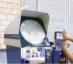Inspection with optical comparator